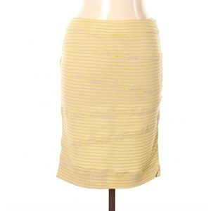 Opening Ceremony Ribbed Striped Skirt Sz L Yellow
